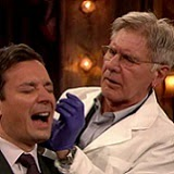 Watch Harrison Ford Pierce Jimmy Fallon's Ear
