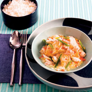 Silken tofu with crab and shrimp sauce recipe