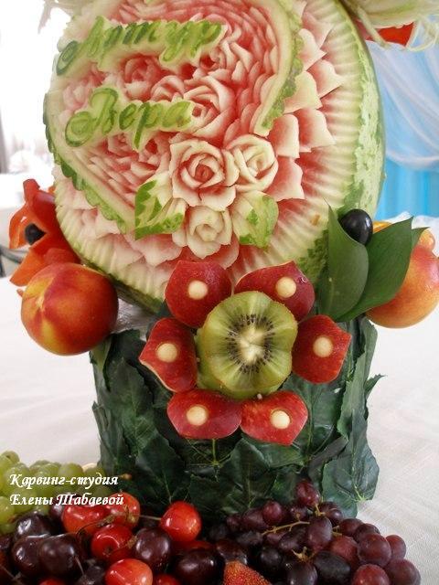 фруктовый карвинг свадьба в морском стиле