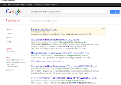 SERPs Advertorial Hymen