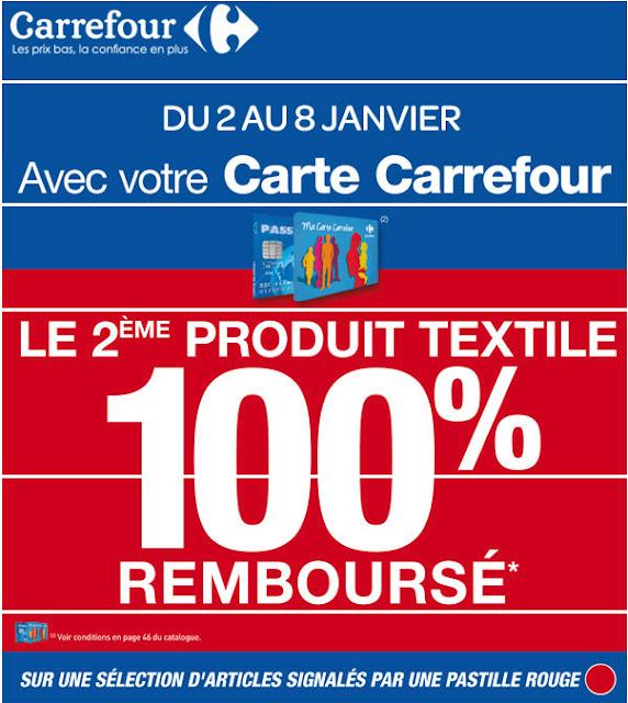 Carrefour: Profitez du deuxième produit textile 100% remboursé à partir du 2 janvier