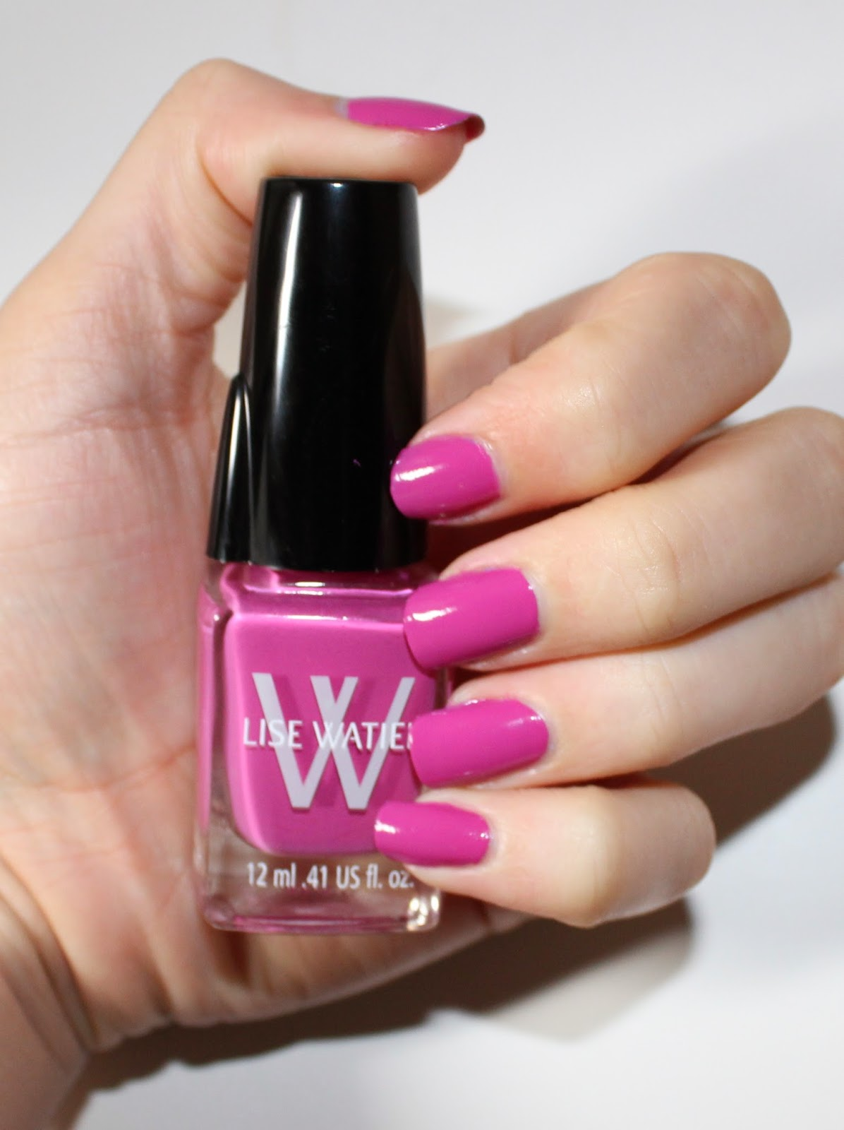 Lise Watier Light Cap Nail Lacquer in Rose Eden Swatch