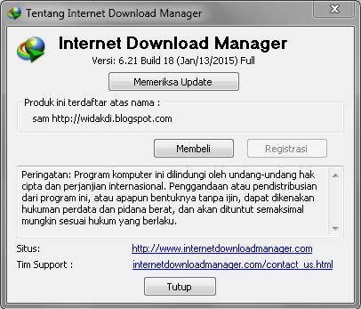 Download IDM 6.21 Build 18 Full Patch Terbaru
