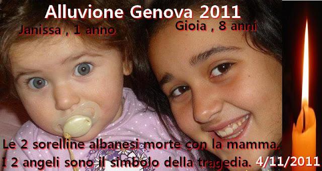 Alluvione Genova 2011, aperto conto corrente per aiutare il padre di Gioia e Janissa