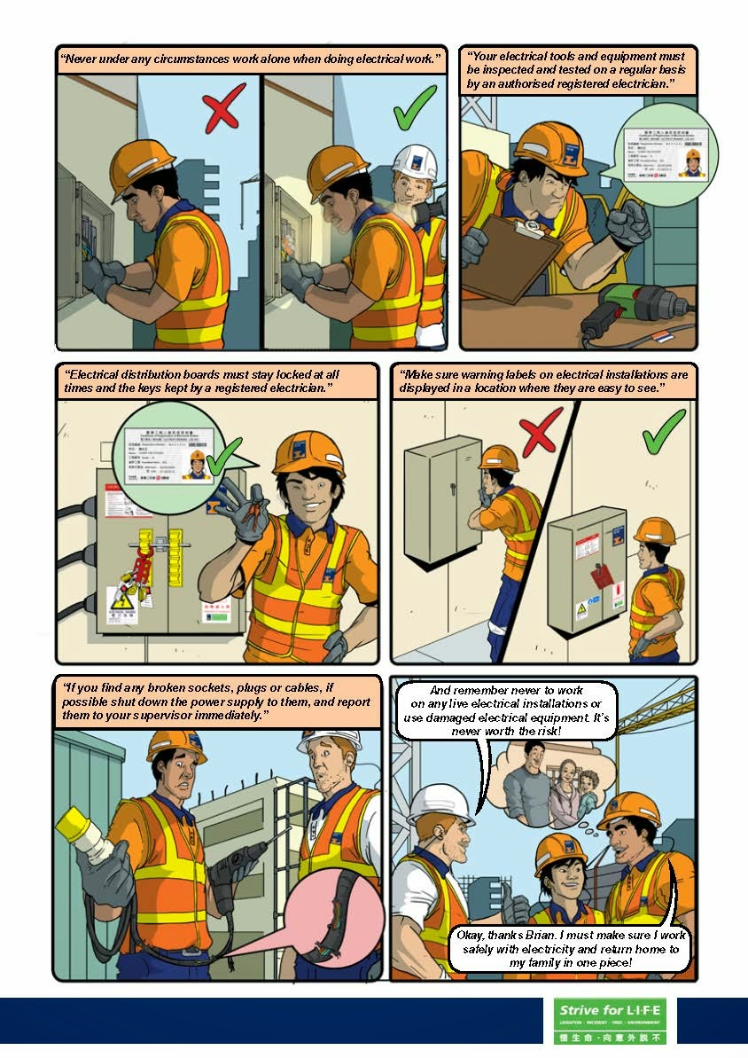 Safety Zone Electrical Comics What Is A Plant Cables Equipment And Machinery All Have The Ability To Shock Injure Even Kill Personnel Non Fatal Shocks Can Cause Permanent