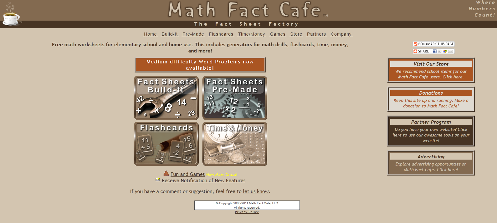 Math Fact Cafe Addition Worksheets addition fast facts – Math Fact Cafe Worksheets