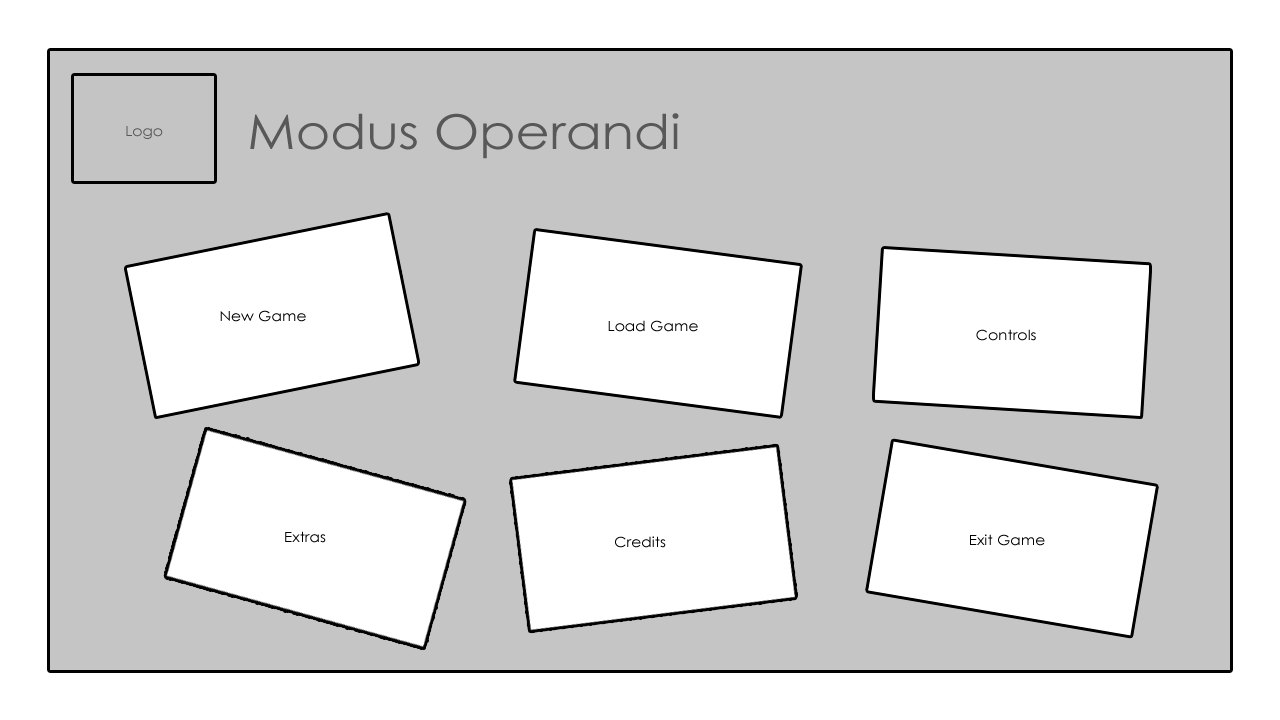 The Game Menu Wire-frames | TGP - Modus Operandi
