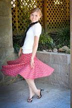 Fresh Modesty Red Circle Skirt