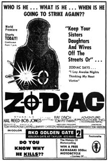 EXCLUSIVE!  Interview with ZODIAC KILLER director Tom Hanson!