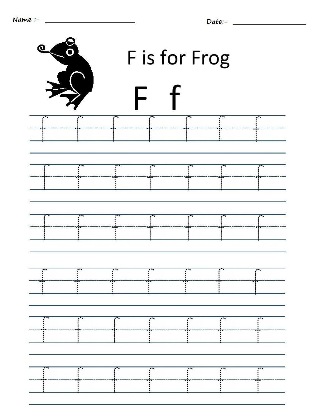 Kindergarten Worksheets Alphabet Tracing Worksheets F