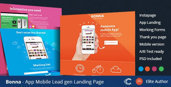 Premium Mobile App Landing Template