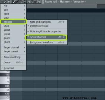 cara aktifkan ghost channel di fl studio
