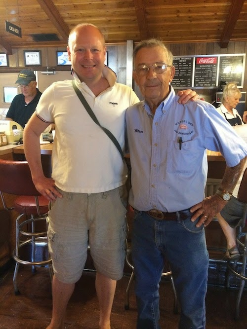 With Wilber Shirley of Wilber's Barbecue
