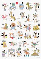 Alfabetsposter 50 x 70 cm - 70 kr