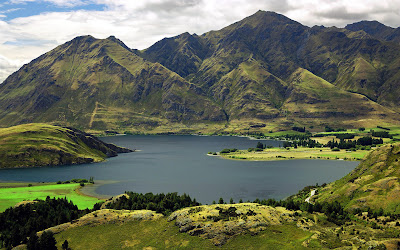 Beautiful Lake Wanaka New Zealand Full HD Nature Background Wallpaper For Laptop Widescreen .Jpg