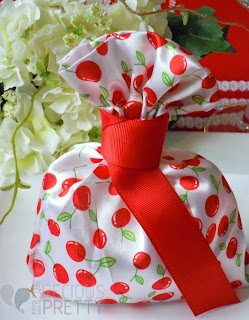 pouches with cherry for baptism