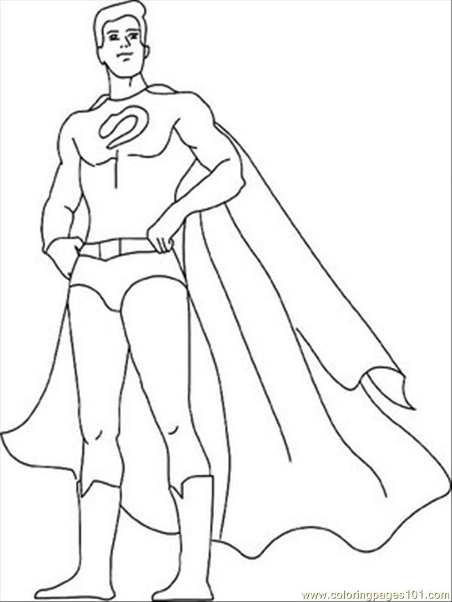 printable super hero coloring pages - photo#13