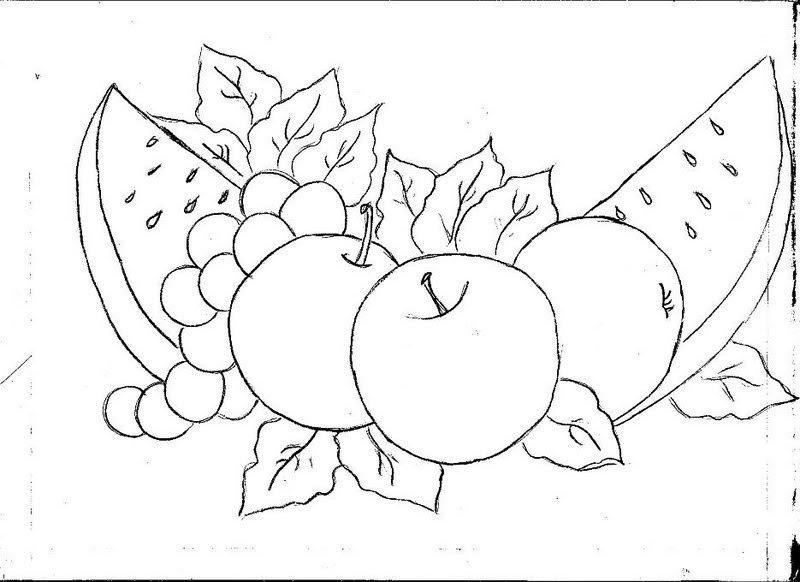 Gal artes pintura em tecido riscos de frutas tirados da net - Dibujos para pintar en tela ...