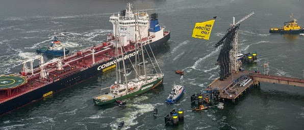 Greenpeace: Arctic Oil Intercepted in Rotterdam, May 1 2014.
