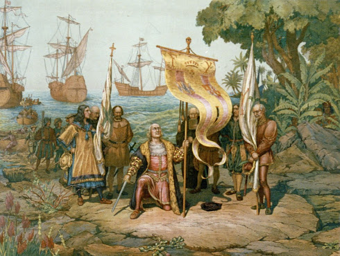 LLEGADA DE CRISTOBAL COLON A LA ISLA (1492)