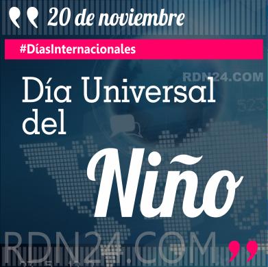 20 de noviembre - Día Universal del Niño #DíasInternacionales