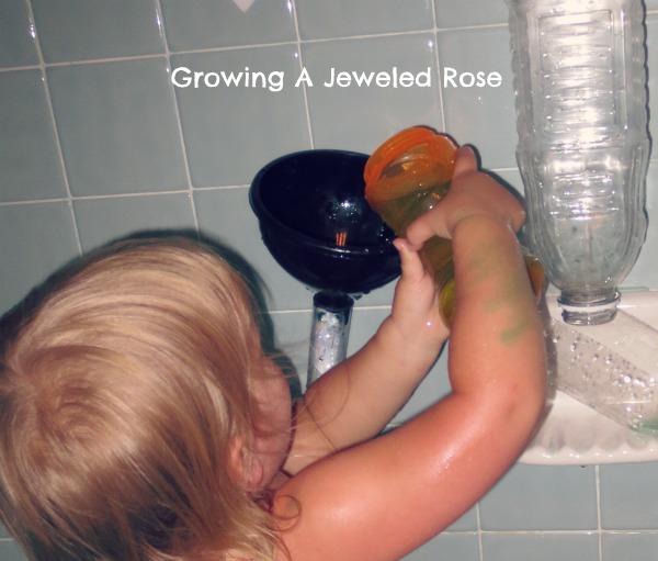 Bath time water wall