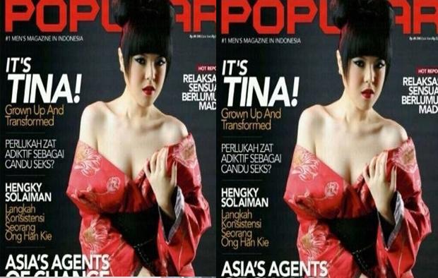 Foto Hot dan Seksi Tina Toon di Majalah Pria Dewasa Popular
