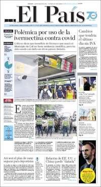 11/07/2020   COLOMBIA  UNA  PRIMERA PÁGINA DE LA PRENSA