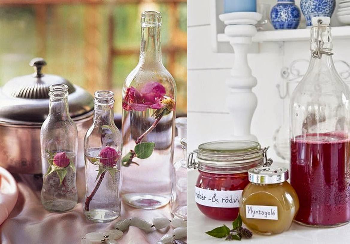 Reutilizamos tarros y botellas de cristal para decorar - Decorar botellas de cristal ...