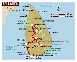 Itinerario por Sri Lanka