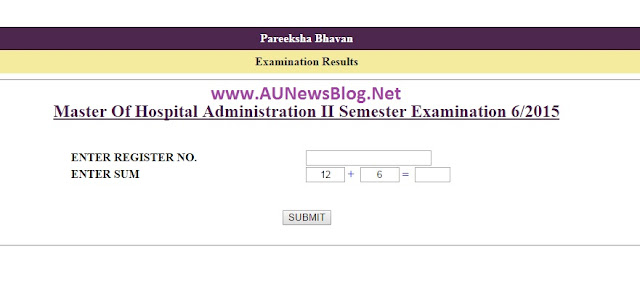 Calicut University Exam Results June 2015 Published for Master of Hospital Administration - aunewsblog