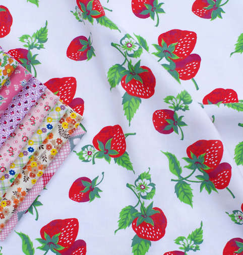 Vintage Fabrics - Strawberries