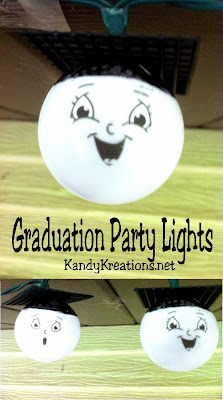 Shine some light on your graduate with these fun Graduation party lights.  The fun faces will happily show through your graduation party and make everyone smile.