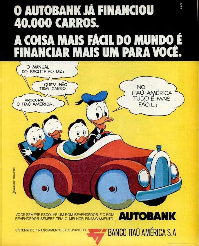 walt disney. 1970. história dos anos 70; propaganda na década de 70; Brazil in the 70s; Oswaldo Hernandez;