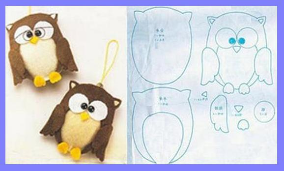 Мягкие игрушки своими руками из ткани совы