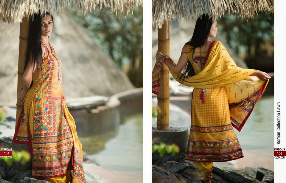 Firdous new summer lawn collection 2015
