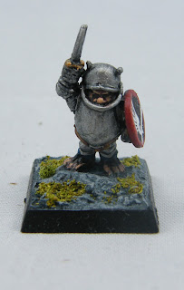 The Halfling Kettle Knight - a noble and mighty character
