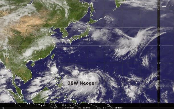 tormenta tropical Neoguri, 04 de Julio 2014