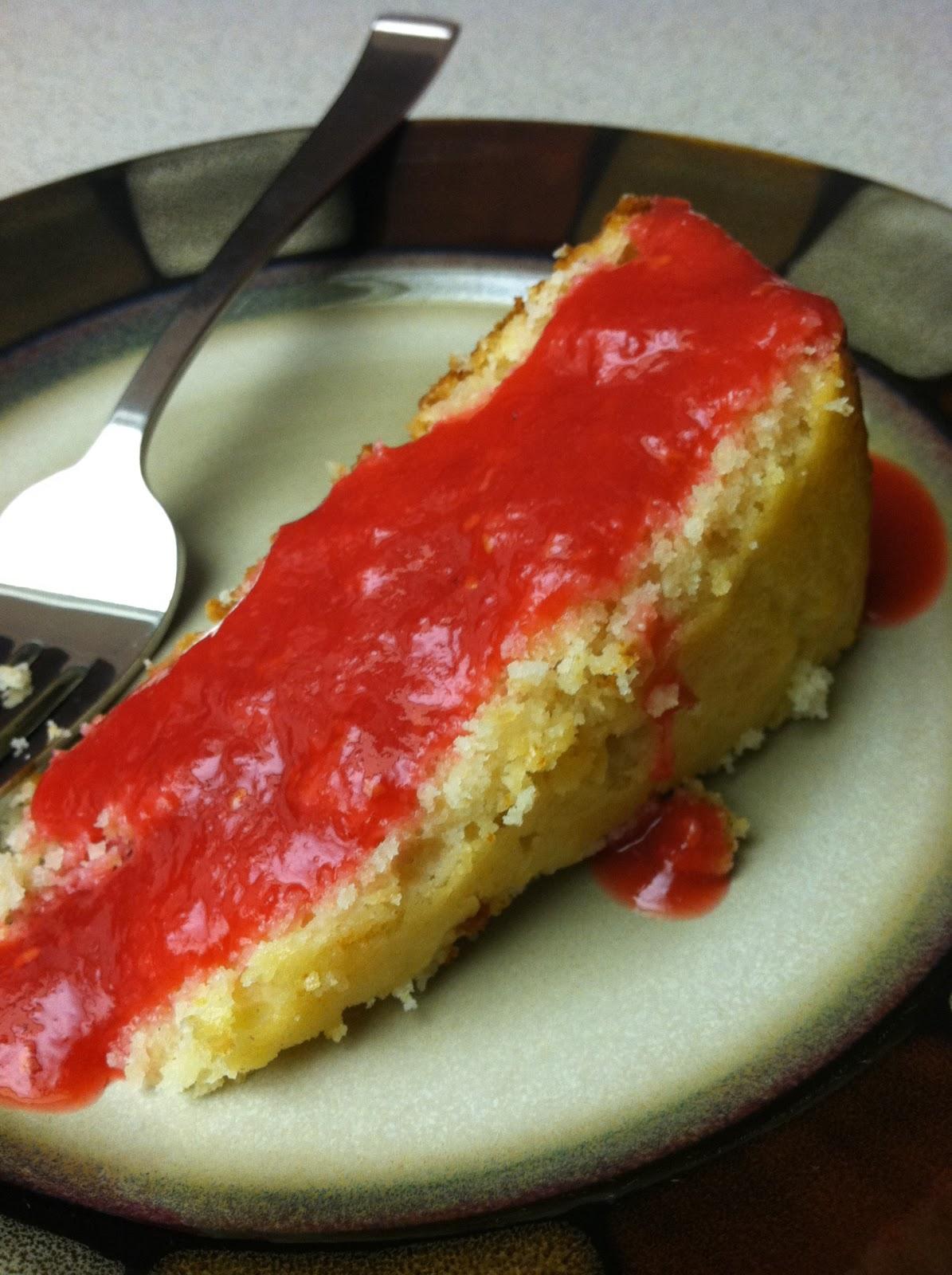 ... the Fast Lane: Week 28: Citrus - Lime Yogurt Cake with Raspberry Sauce