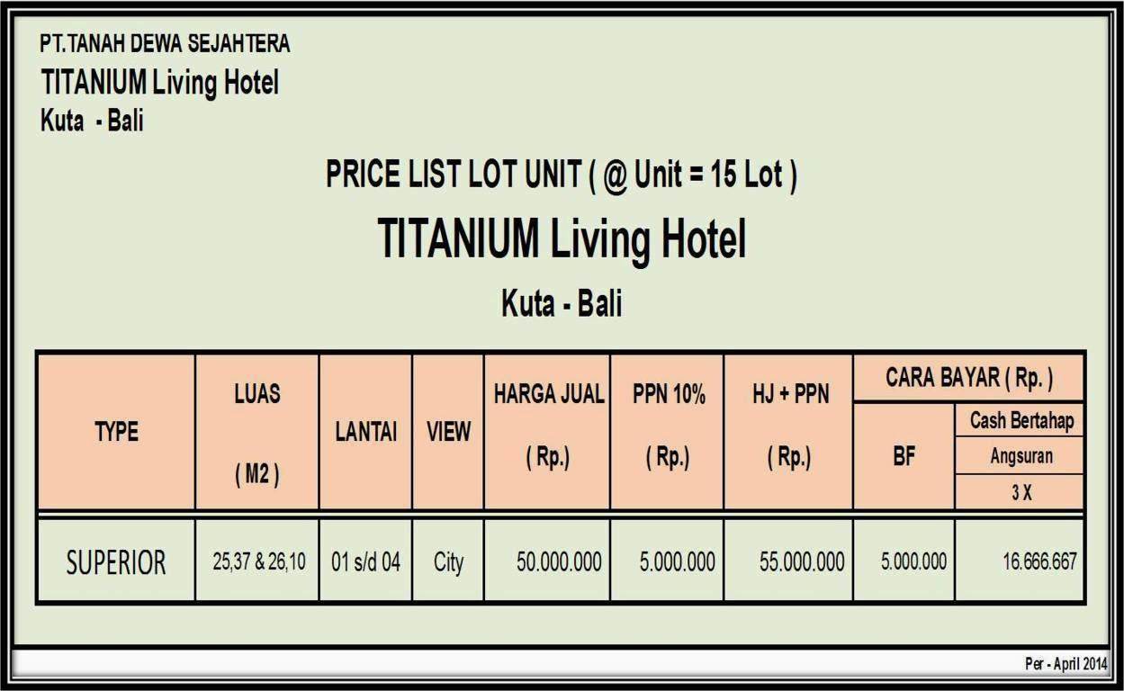 harga-titanium-living-hotel
