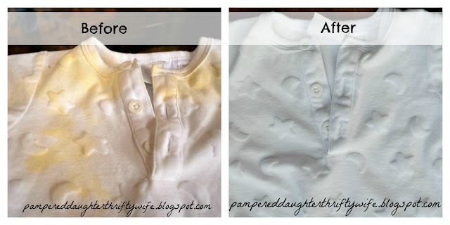 Pampered Daughter Thrifty Wife How to REMOVE stains from