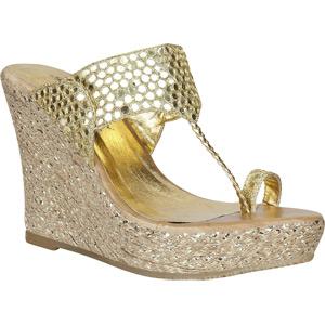 womens high heel shoes fashion ethnic shoe wedge