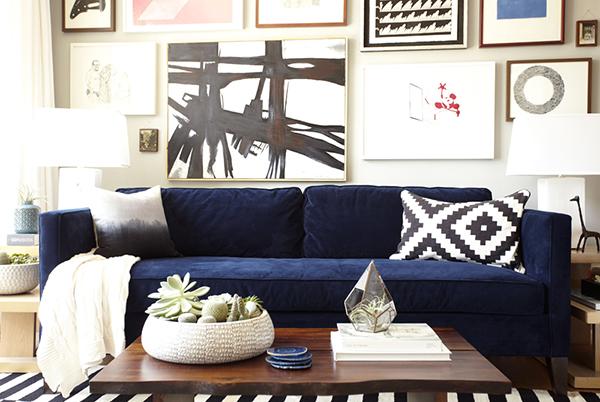 blue velvet sofa obsession
