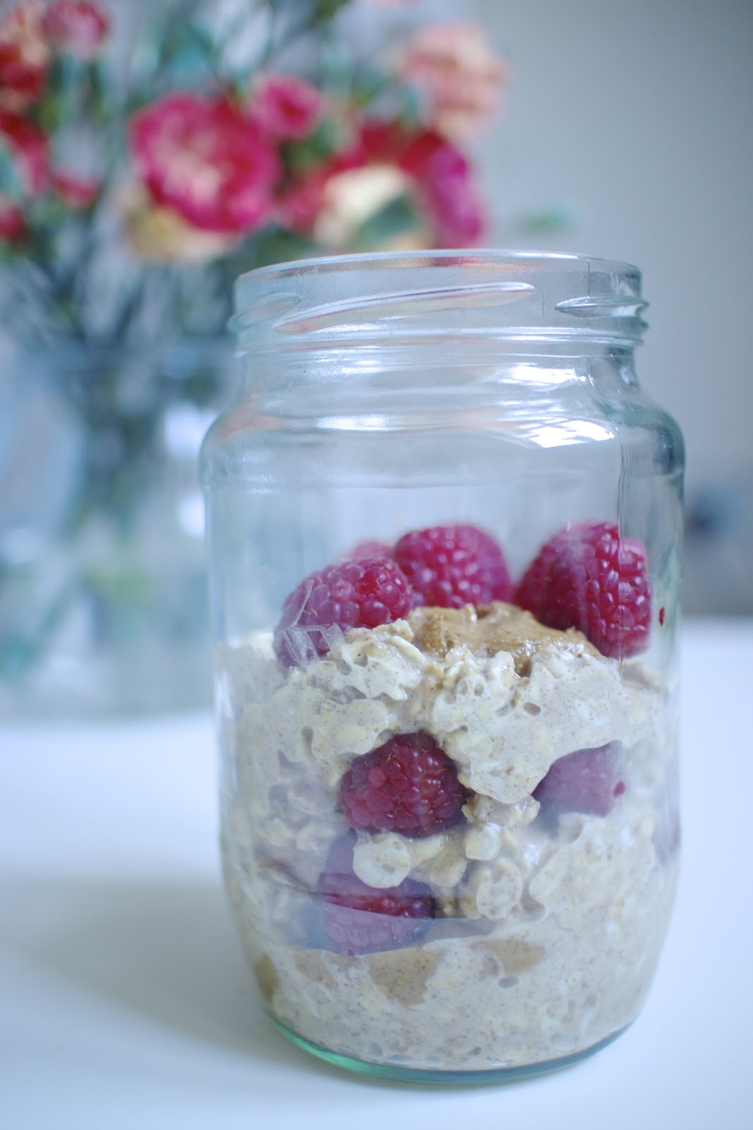 She's So Lucy Easy Healthy Almond Butter Overnight Oats
