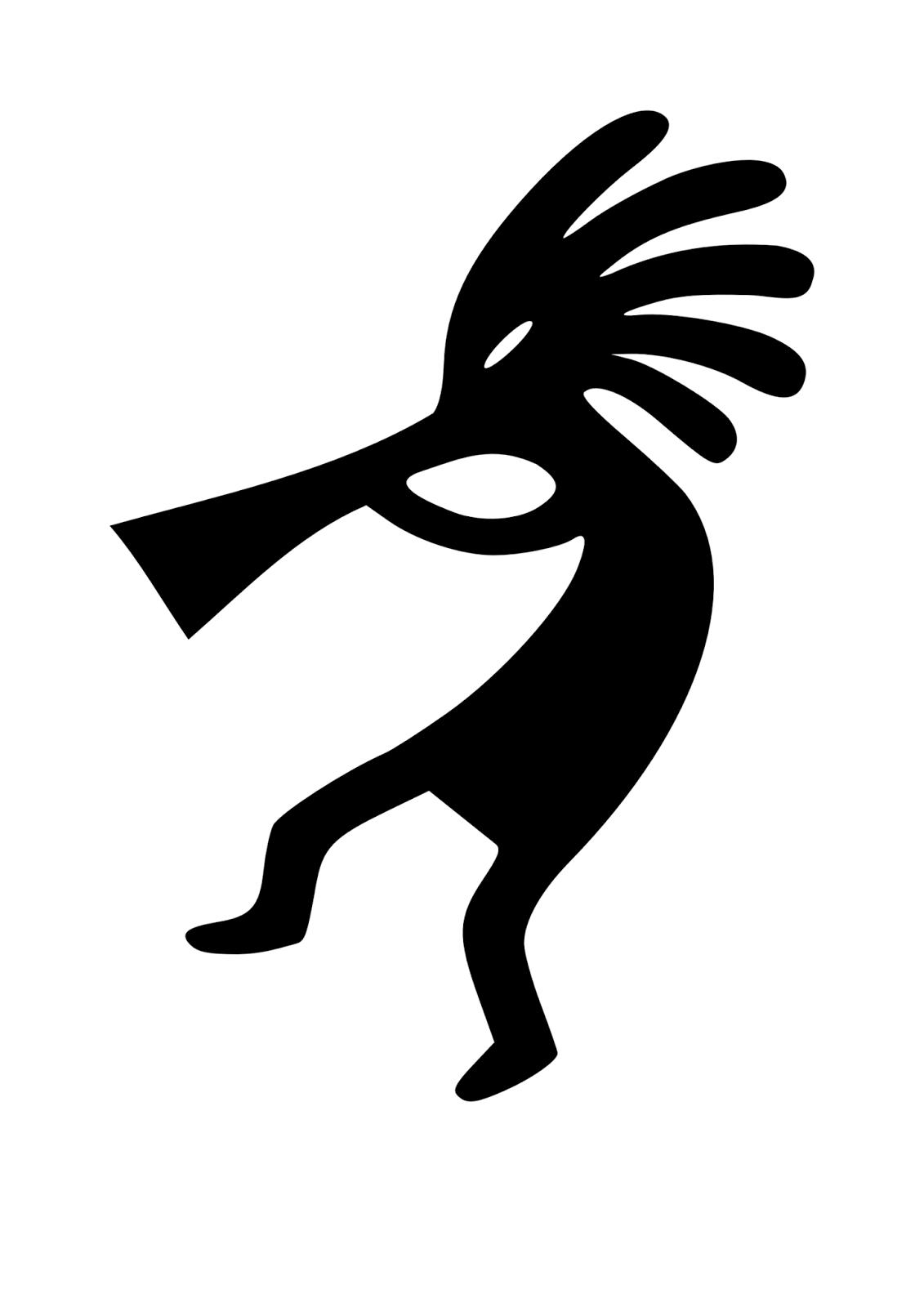 Kokopeli flutist tattoo stencil