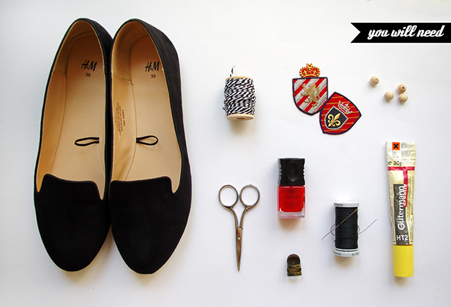 DIY Emblazoned Loafers. Fashion tutorial by www.fashionrolla.com
