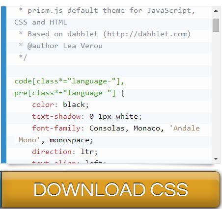 Tải về CSS Prism