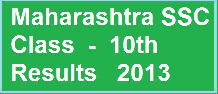 SSC Result 2013 Maharashtra