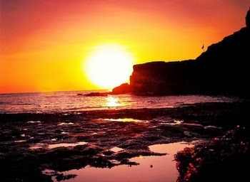 Beautiful Sunset in Tanah Lot
