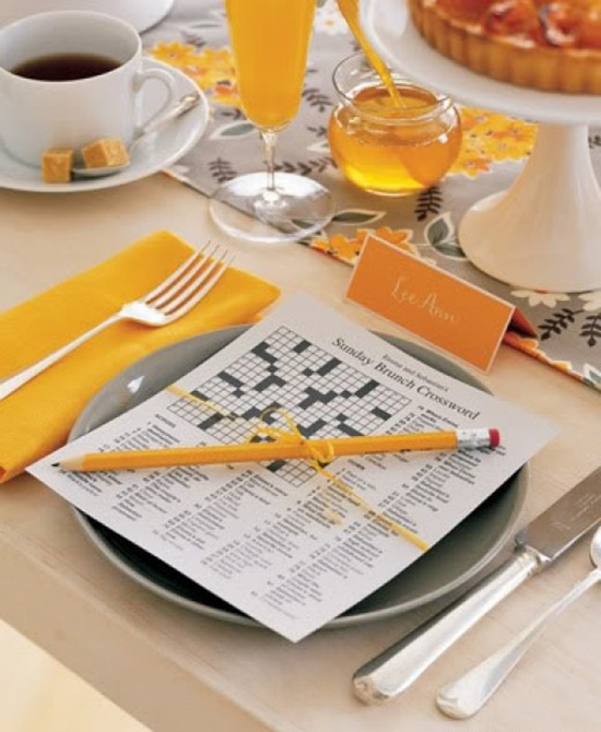 brunch wedding / crossword puzzle.